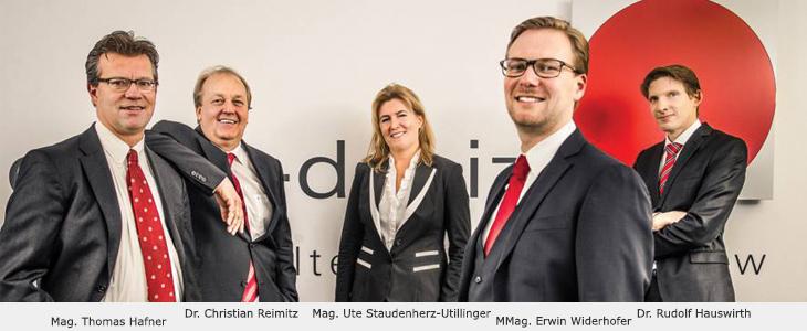 Mag. Thomas Hafner, Dr. Christian Reimitz, Mag. Ute Staudenherz-Uttilinger, MMag. Erwin Widerhofer, Dr. Rudolf Hauswirth